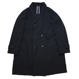 UNIVERSAL PRODUCTS - COTTON SHAWL COLLAR COAT/NAVY