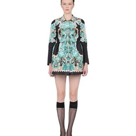 RED Valentino - Marzipan print faille coat Green