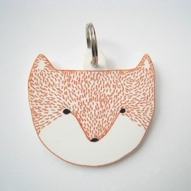 clairehartigan - Fox Head Keyring