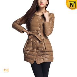 CWMALLS - Women Leather Down Peacoat CW673668 - CWMALLS.COM