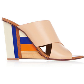 TORY BURCH - Color Cube leather and acrylic wedge sandals