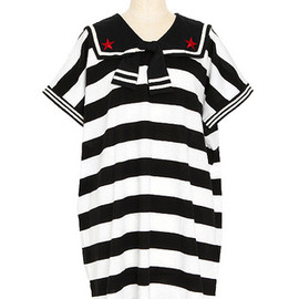 Candy Stripper - SUMMER BORDER SAILOR ONE-PIECE