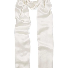 Chloé - Fringed silk-satin scarf