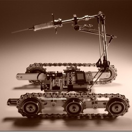 Christopher Conte - Lethal Injection Attack Droid Prototype / CyberPunk /steamPunk