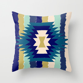 re:values - blanket -blue- THROW PILLOW