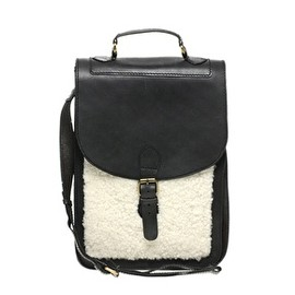 ASOS Collection - Image 1 of ASOS Leather & Shearling Long Satchel