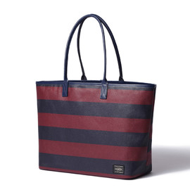"HEAD PORTER - ""OXFORD"" TOTE BAG (M) BURGUNDY"