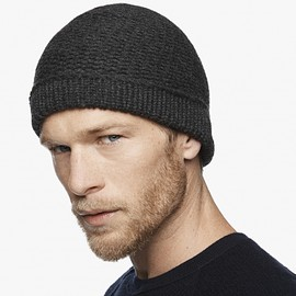 JAMES PERSE - CHUNKY KNIT CASHMERE BEANIE