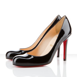 Christian Louboutin - Simple Pump patent black pumps 100mm