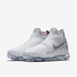 Nike, NikeLab - Nike Air VaporMax Chukka Slip Pure Platinum/White/Team Orange/Reflect Silver
