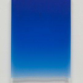 Peter Alexander - Royal Blue Drip, 2011, Polyester Resin,  24 1/2 x 17 3/4 x 1  1/4