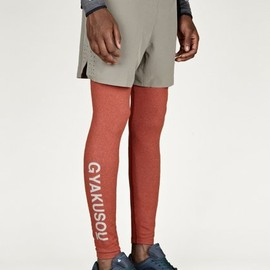 GYAKUSOU - Men's Orange Long Tights