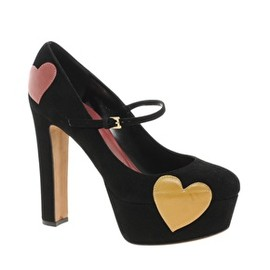 MOSCHINO - Moschino Cheap and Chic Griselda Heart Print Mary Jane Shoes
