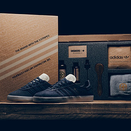 adidas - Gazelle (Crafted) - Navy/White/Gold