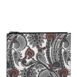 GIVENCHY - LARGE PAISLEY PRINT FAUX LEATHER POUCH