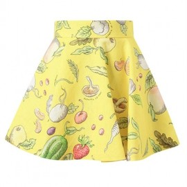 Olympia Le Tan - 2013/SS■Olympia Le Tan■Vegetable Printed Linen Skater Skirt 1