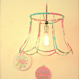 vintage lampshade hanging light