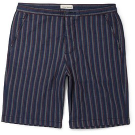 Oliver Spencer - Striped Cotton Shorts