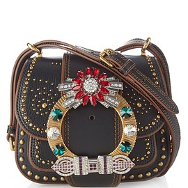 miu miu - Dalia crystal-embellished leather cross-body bag