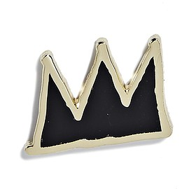 Pintrill - Jean-Michel Basquiat - Crown Pin - Black and Gold