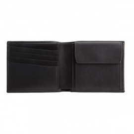 SMYTHSON - Wallet with Coin Purse in Black, Grosvenor Collection