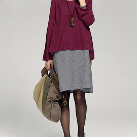 dress - layered long dress purplish red