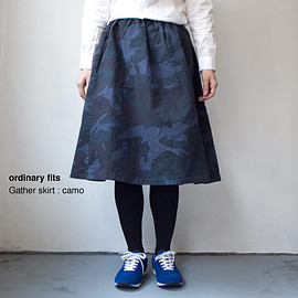 ordinary fits - [Ladies']ordinary fits / Gather skirt : camo