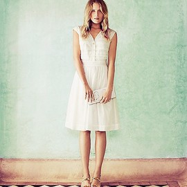 TORY BURCH - The Little White Dress: Soft + Floaty