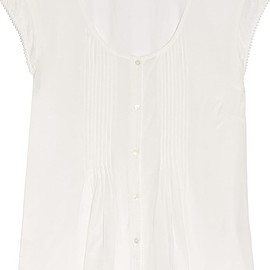 Frame - Le Victorian pintucked voile top