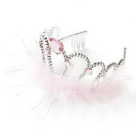 Claire's - PINK CRYSTAL HEART TIARA
