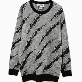 assk - Image of SCRATCH Knit Sweater - Grey
