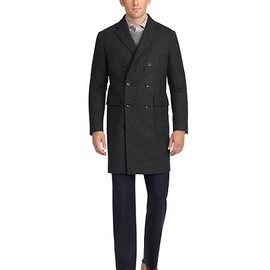Brooks Brothers - Double-Breasted Plaid Topcoat / Charcoal