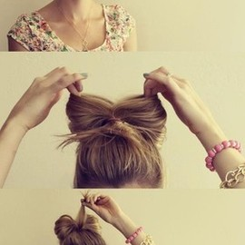 www.weddbook.com everything about wedding ♥ DIY hair bow bun tutorial ♥ Gorgeous Wedding Hair #bow #vintage