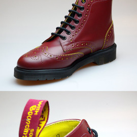 "Dr.Martens - ANTHONY BROGUE BOOT ""Cherry Red/Yellow"""