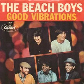 """The Beach Boys - Good Vibrations / Let's Go Away For A While (US Original 7"""")"""