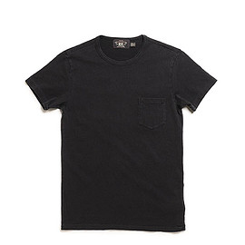 RRL - Indigo Cotton Jersey Pocket T Shirt-R.Black Indigo