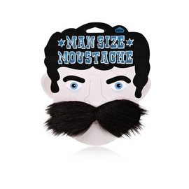 Man Size Moustache Black