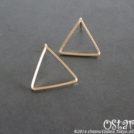 Ostara - 【14KGF】Stud Earrings,Simple Triangle