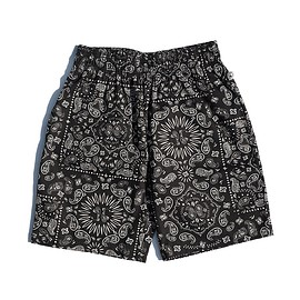 COOKMAN - Chef Short Pants 「Paisley」 Black