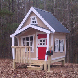ImagineThatPlayhouse - Raised Big Playhouse with loft and interior package