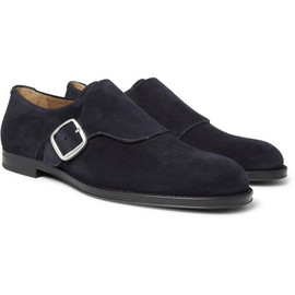Jimmy Choo  - Holborn Suede Monk-Strap Shoes
