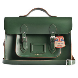 Dr.Martens School  - School Satchel Green Leather Bag Large