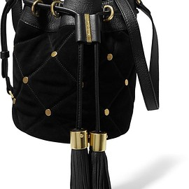 See by Chloé - Vicki suede and leather bucket bag