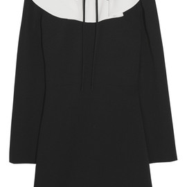 VALENTINO - Ruffle-trimmed crepe mini dress