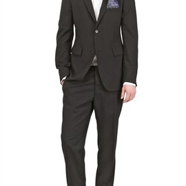 JIL SANDER - STRETCH WOOL POPLIN SLIM FIT SUIT