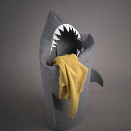 Ultramaryna - SHARK Felt laundry basket