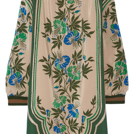 ANNA SUI - Printed silk crepe de chine dress