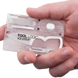 Tool Logic - ICE Lite II Card Tool with 1-Inch Blade, LED Light and Scissors, Translucent by