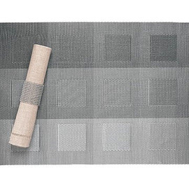 Sandy Chilewich - Engineered Squares Place Mat, Silver