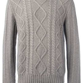 Loro Piana - diamond cable knit jumper